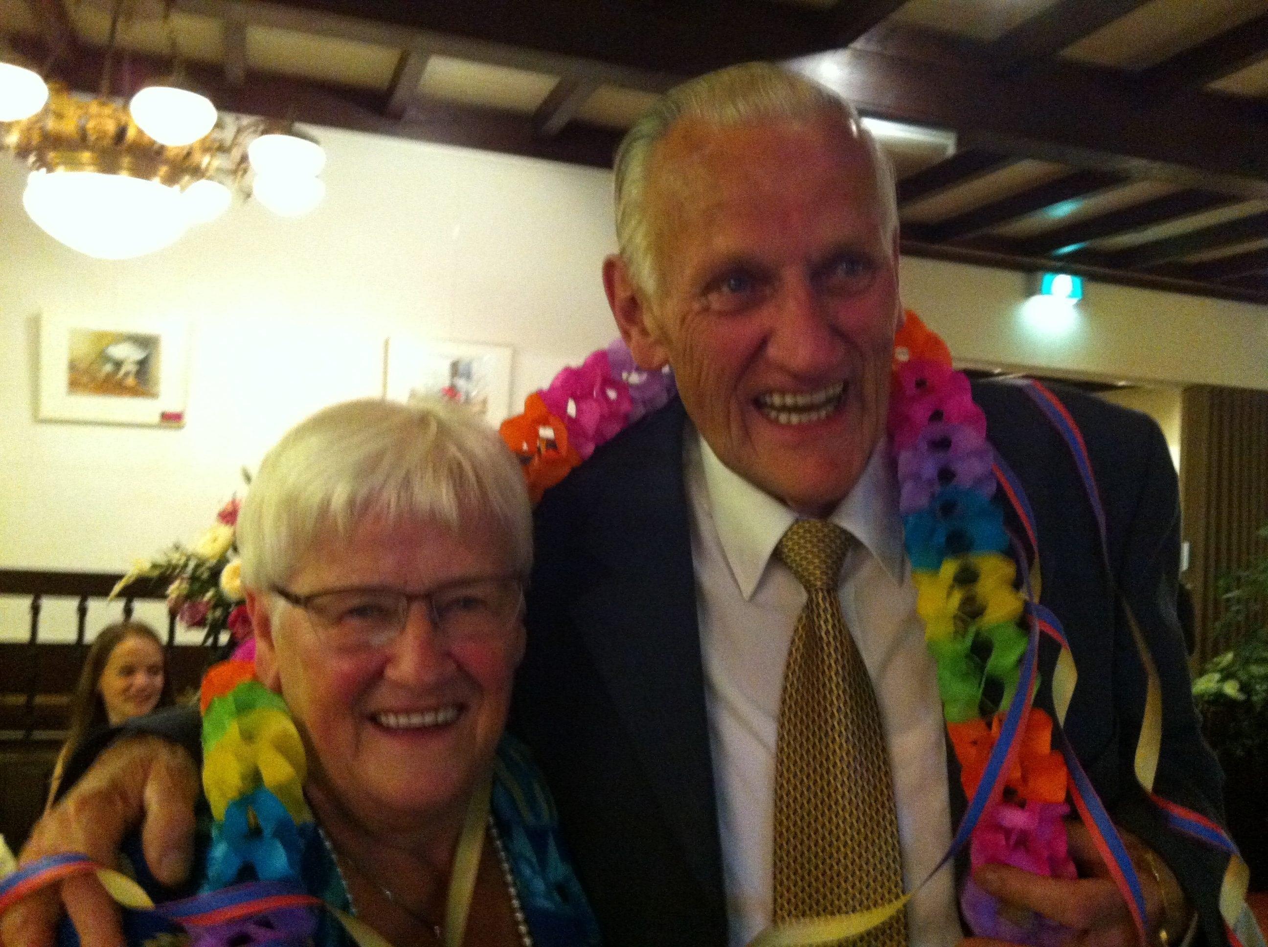 Coby en Eeuwoud 50 jaar getrouwd